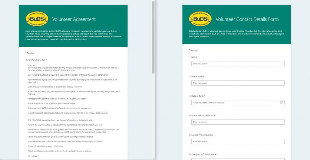 BuDS Volunteer Forms